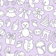 Baby Toys and Elements Seamless Pattern N4