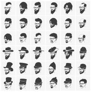 hairstyles with a beard and mustache wearing glasses hats