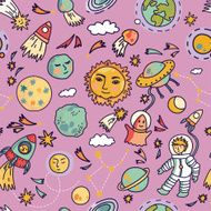 Vector seamless space pattern