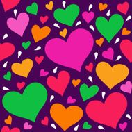 Seamless pattern with hearts N4