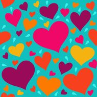 Seamless pattern with hearts N5