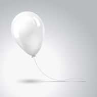 White balloon isolated on gray