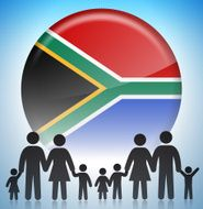 South African Stick Figure Family