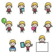Boy character various poses N5