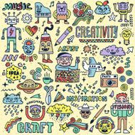 Creativity Activities Funny Doodle Cartoon Set 2 Arts and Crafts N2