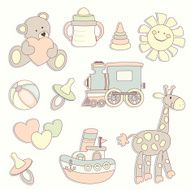 Baby shower Cute paper labels N2