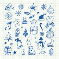 Christmas doodles set N3