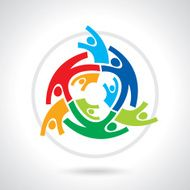 Concept of community workers unity social networking icon image N6