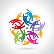 Concept of community workers unity social networking icon image N7
