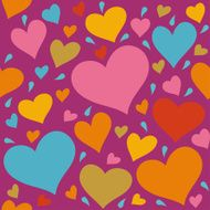 Seamless pattern with hearts N7