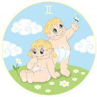 Children's Gemini zodiac sign