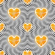 Halves orange on abstract background Seamless pattern