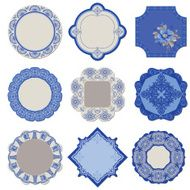Victorian Tags and Frames - Porcelain