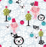 Christmas seamless background N5