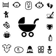 Baby Silhouette Icons