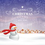 Vector Christmas Design with Snowman N12