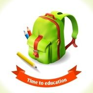 Backpack education icon