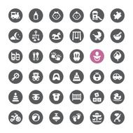 Newborn and Childhood vector icons