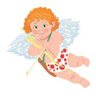 Cupid Vector character Template for greeting card