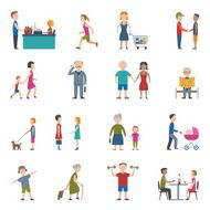 People Lifestyle Icon Set