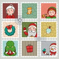 Christmas and new years stamps