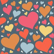 Seamless pattern with hearts N9