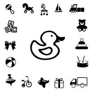Toys Silhouette Icons N2