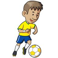 Soccer Kid Cartoon N6