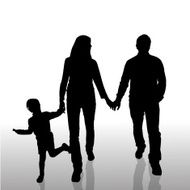 Vector silhouette of family N478
