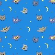 Seamless background with owls N2