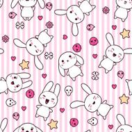 Seamless pattern with doodle Vector kawaii illustration N10