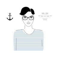 Fashion silhouette hipster style vector illustration