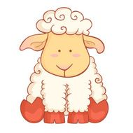 Cute sheep character of chinese new year symbol N2