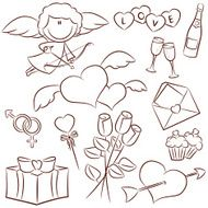valentine's day icons N12