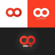 infinity symbol logo design icon set background