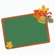 School board with leaves