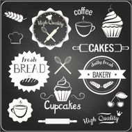 Bakery labels and items
