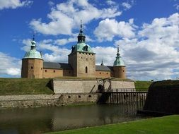 distant view of Kalmar Castle