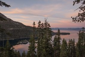 magnificent lake tahoe dusk landscape