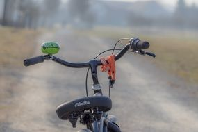 bike on a country road