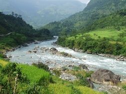 mountain river in nepal