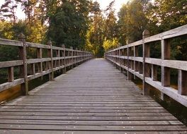 wooden bridge away