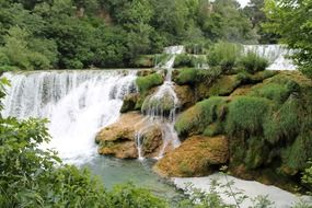 waterfall in the national park in croatia