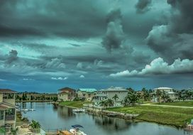 Stormy sky over florida