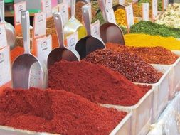 spices on bazaar in israel, Jerusalem