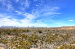 view of desert in Big Bend National Park, Texas