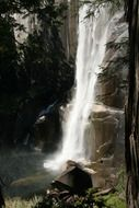 waterfall nature water yosemite