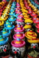 cactuses in colorful sombreros