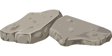 graphic drawing of rocks