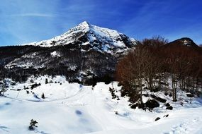 Pyrenees Mountain System in winter